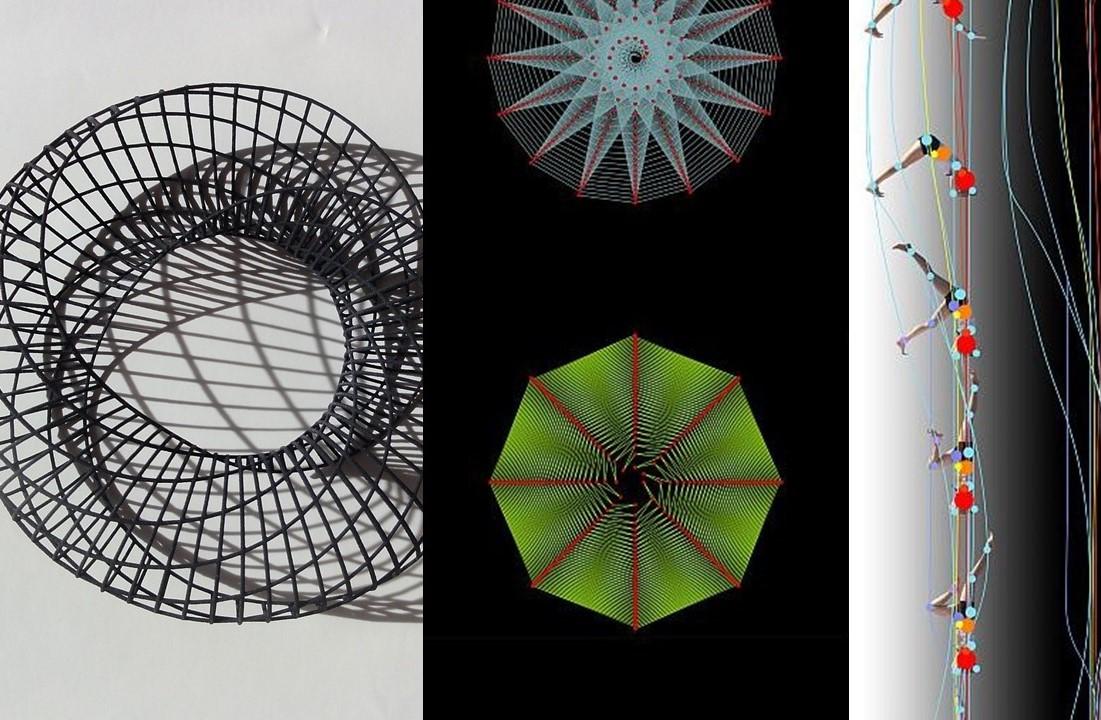 Daniela Bertol detail: 1- Bracelet-Spiral Inginsideout 2-Phyllotaxis 3- Moving Geometries